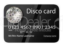 credit card disco black