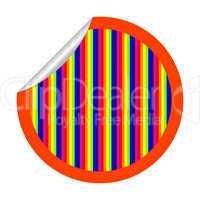 rainbow stripes sticker isolated on white