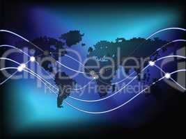 circles world map background