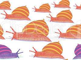 snails seamless pattern