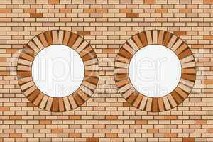 round brick windows