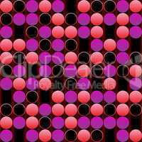 pink bubbles background