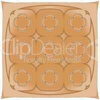 brown handkerchief