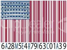 america bar codes flag