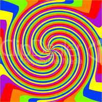 swirl rainbow composition