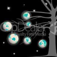 earth globes tree