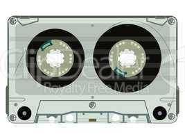 audio tape casette isolated on white