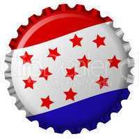 stylized bottle cap with united states flag