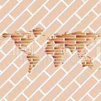 bricks world map
