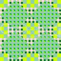 geometric green seamless pattern