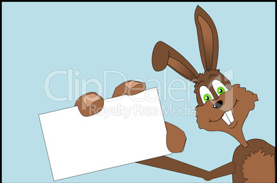 Easter bunny with business card