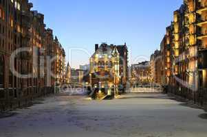Hamburger Speicherstadt im Winter