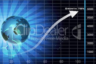 Diagramm und Globus