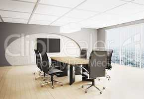 conference room with lcd  3d