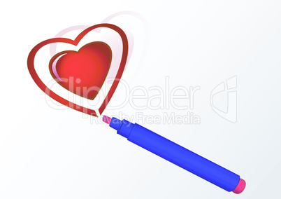 Markers and heart