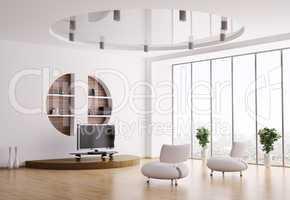 Interior of living room 3d