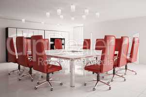 conference room with interior 3d