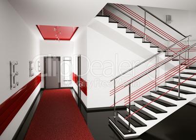 Hall 3d render