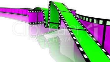 Green and magenta 3d blank films