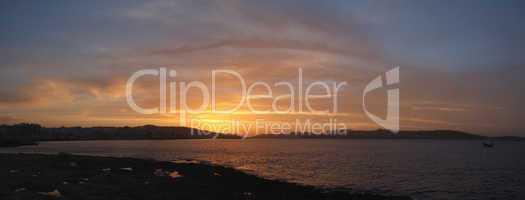 Sunset am Mittelmeer