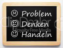 Problem / Denken / Handeln - Business Konzept