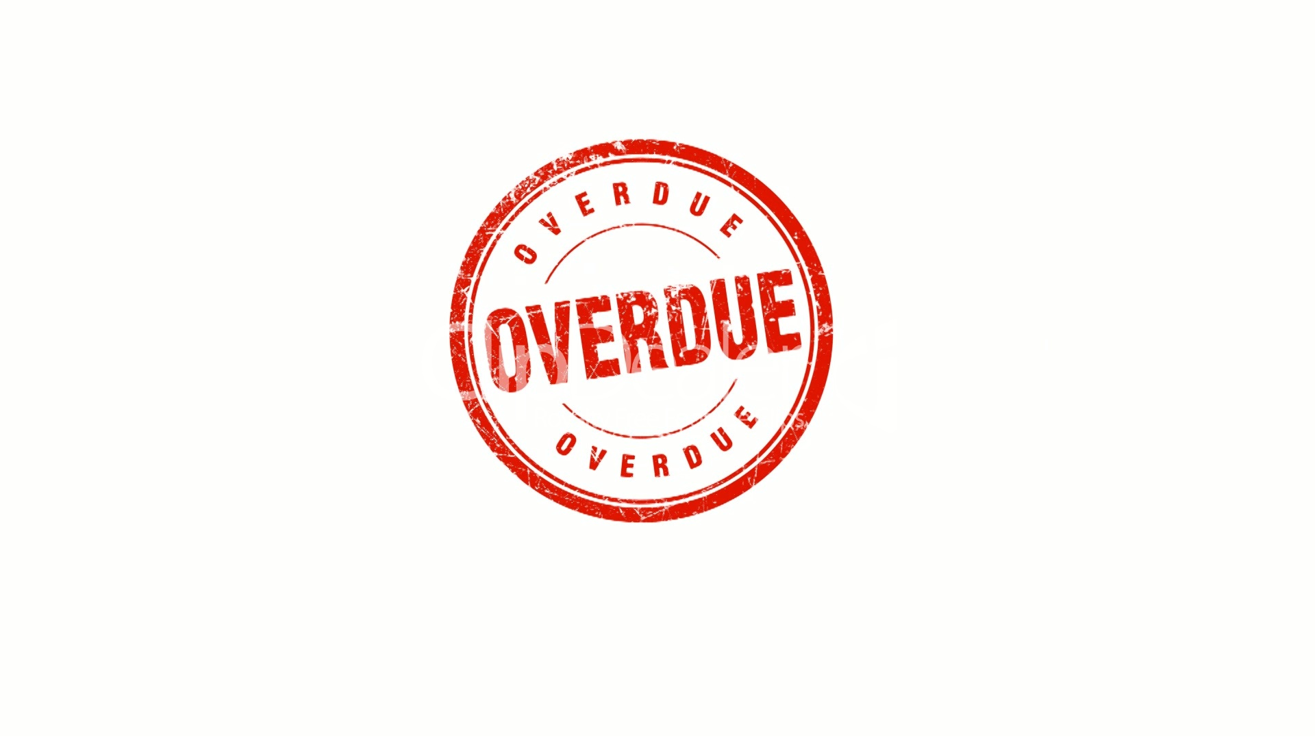 overdue stamp royalty free video and stock footage