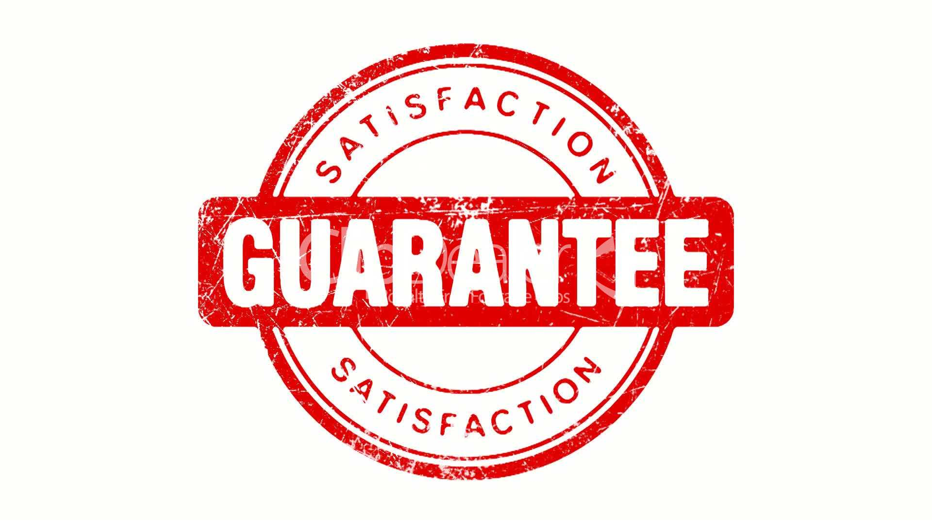 Satisfaction Guarantee Stamp Royalty Free Video And Stock
