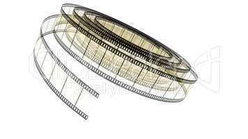 Sepia Segment color film rolled down