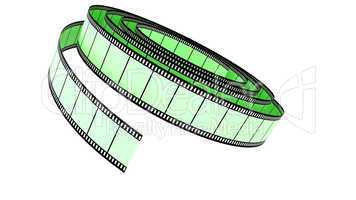 Green Segment color film rolled down