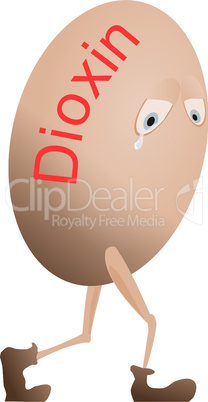 Egg with dioxin