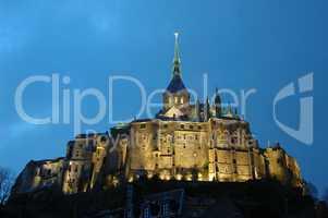 Le Mont Saint Michel by night / Le Mont Saint Michel bei Nacht