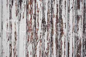 Wood panel with chipped paint. Grunge Style
