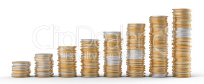 Progress and wealth: golden and silver coins