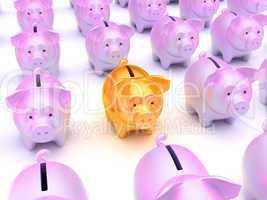 Solution: Golden piggy bank