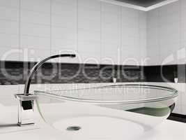 Glass washbasin 3d