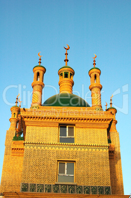 Landmark of an Islamic mosque