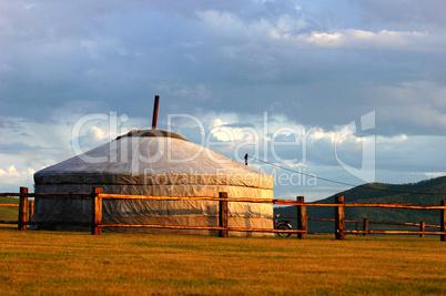 Landmark of ger in Mongolia