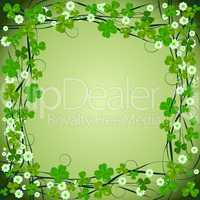 Clover frame background