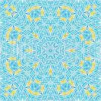 Business Inspiration Mandala - blue yellow