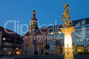 Rathaus und Georg