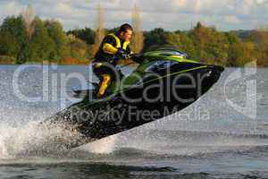 Jet Ski Wet Bike Jumping