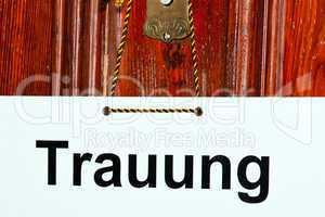 Hinweisschild Trauung 438