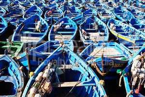 Fischerboote in Essaouira Marokko 291