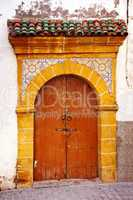 Verziertes Tor in Marokko 312
