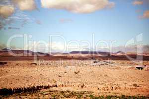 Marokko Landschaft mit Atlasgebirge 801