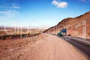 Marokko Landschaft mit Atlasgebirge 803