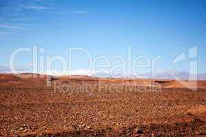 Marokko Landschaft mit Atlasgebirge 807