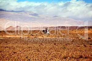 Marokko Landschaft mit Atlasgebirge 811