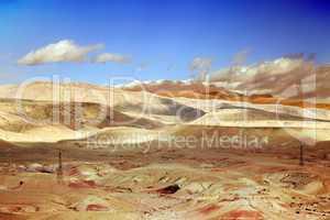 Marokko Landschaft mit Atlasgebirge 854
