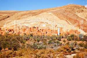 Marokko Landschaft mit Atlasgebirge 875